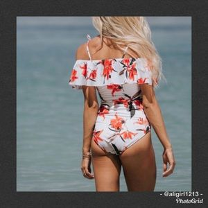 Other - FINAL PRICE - Off The Shoulder Ruffled Swimsuit